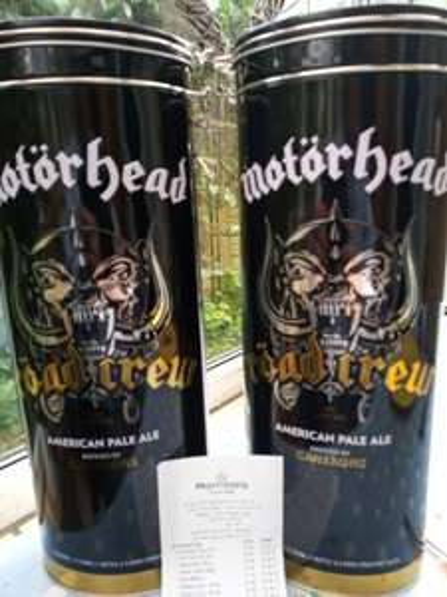 Motörhead Road Crew bottle and Road crew pint glass gift set £2 at Morrisons Gloucester