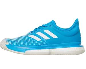 Womens Adidas Solecourt Clay Tennis Trainers now £44.99 sizes 4 up to 9.5 delivery is £4.99 or free with Premier @ M&M Direct