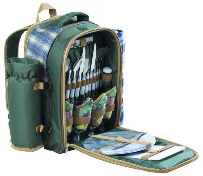 Andes 4 Person Picnic Backpack/Hamper Set inc. Rug / Knives / Forks / Spoons / Plates / Bottle Opener + More £24.99 + £2.99 del @ Andes