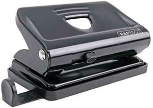 Rapesco 810 2-Hole Metal Punch with 12 Sheets Capacity - Black, £1.75 + £4.49 non primeat Amazon