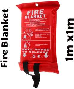 Fire blanket 1m x 1m - £5.48 (+£4.49 Non-Prime) - Sold by SPECIAL OFFERS / fulfilled by Amazon