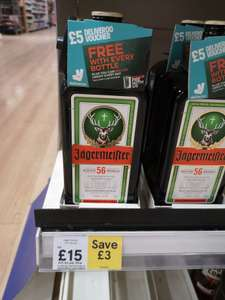 Jagermeister 70cl £15 including free £5 deliveroo voucher @ Tesco (Dover)