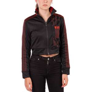 adidas Originals Womens By Alexander Wang Crop Track Jacket Black/Core Red size 22 £31.98 delivered @ M&M Direct