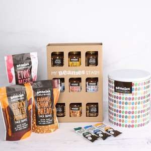 Brand New Beanies Bundle (Pick up 3 Thick Milkshake Packs,9 Jars and 75 Assorted Sachets in a tin) @ Beanies the Flavour Co