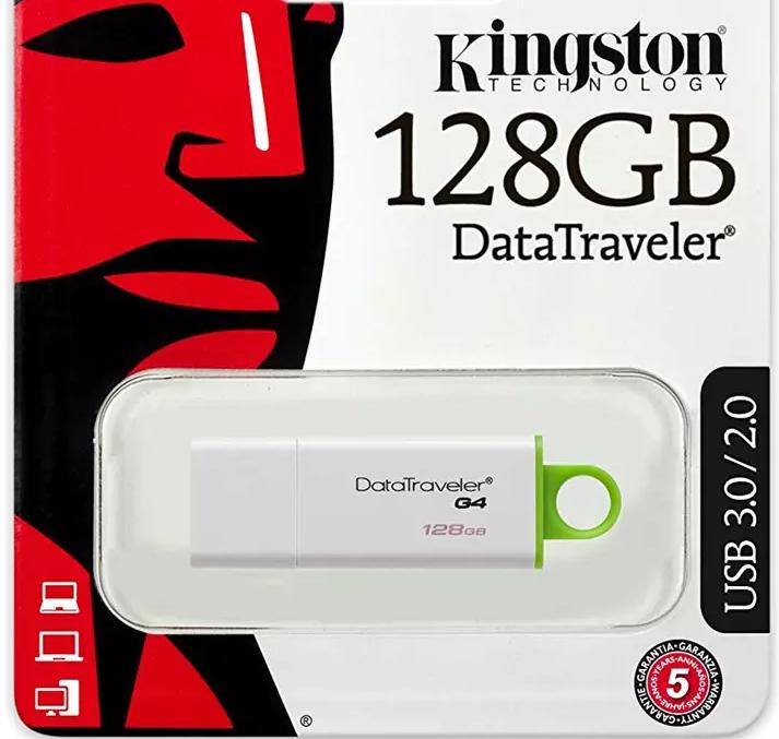 Kingston 128GB DataTraveler G4 USB 3.0 Flash Drive + 5 Year Warranty - £12.99 delivered @ MyMemory
