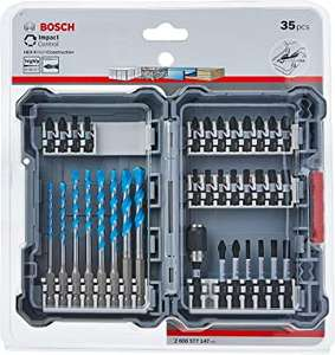 Amazon. Bosch 2608577147-000 2608577147 35 Piece Drill & Screwdriver Bit Set £22.99 Amazon