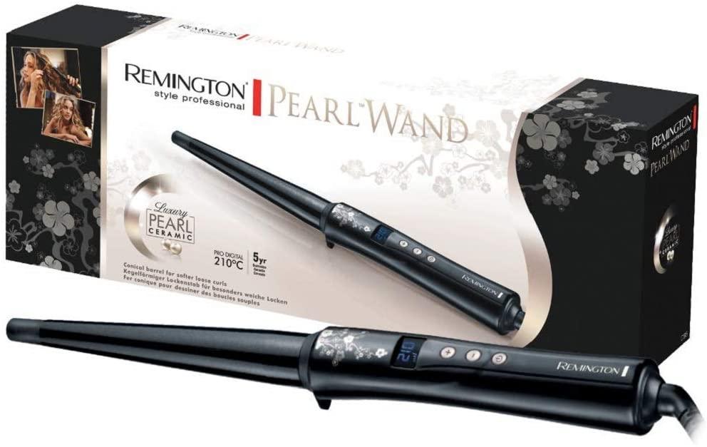 Remington Pearl Wand Ceramic Conical Barrel CI95, Pro Digital 210°C Used VG £7.82, Like New £8.24 (+£4.49 Non-Prime) @ Amazon Warehouse