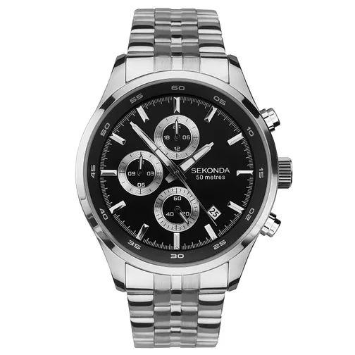 Sekonda Men's Dual-Time Stainless Steel Bracelet Watch - £42.49 Delivered @ H.Samuel