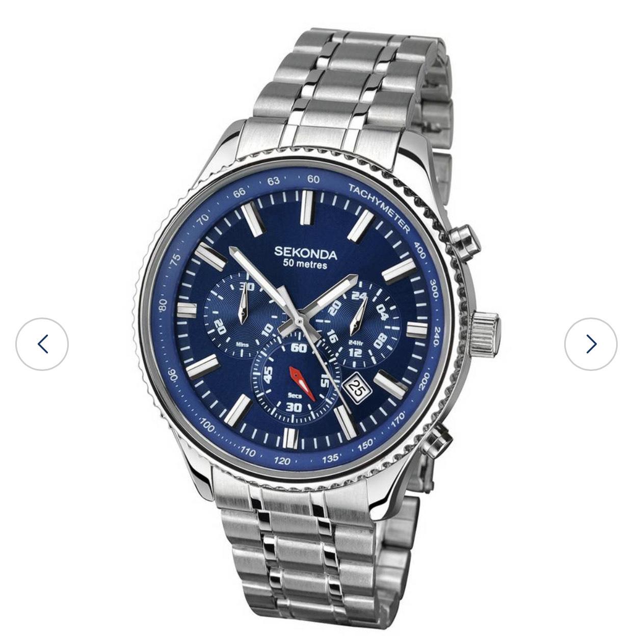 Sekonda Men's Dual Time Stainless Steel Bracelet Watch - £43.94 Delivered @ Argos