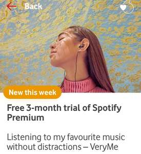 Free 3-month trial of Spotify Premium VeryMe vodafone