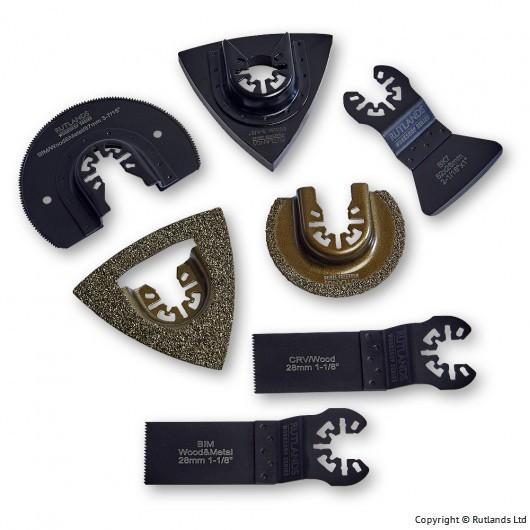 Rutlands Multi Tool Accessory Set - 7 Piece £9.95 + £3.95 delivery at Rutlands