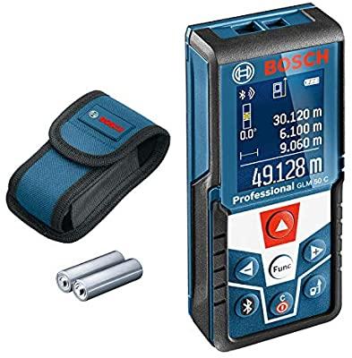 Bosch Professional laser measure GLM 50 C (Bluetooth, 360°inclination sensor, range: 0.05–50 m, 2 x 1.5 V batteries, bag) £92.99 at Amazon