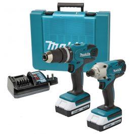 Makita 18v Cordless Li-ion Combi Hammer Drill & Impact Driver Twin Pack Lithium £164.89 at Buyaparcel.com