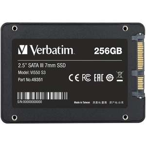"""Verbatim 256GB Vi550 S3 2.5"""" SSD Drive - 560MB/s 460MB/s R/W + 3 Year Limited Warranty- £27.99 Delivered @ Mymemory"""