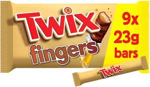 Twix Chocolate Biscuit Fingers Multipack 9 x 23g £1 (Minimum £15 spend + £3.99 delivery or free with 4 selected items) at Amazon Pantry