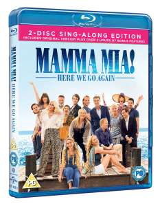 Mamma Mia: Here We Go Again (Sing-Along 2-Disc Edition) Dolby Atmos Soundtrack Blu-Ray + Digital Download £2.64 @ Amazon (+£2.99 Non-prime)