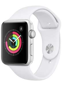 Apple Watch Series 3 (GPS, 42mm) - Silver Aluminum Case with White Sport Band £199.00 at Amazon