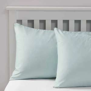 2 Housewife Pillowcases - Duck Egg £1.29 delivered @ renownideasltd ebay