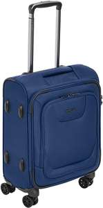AmazonBasics Premium Expandable Softside Spinner Luggage With TSA Lock - 46 cm International Carry-On, Blue £36.29 Amazon
