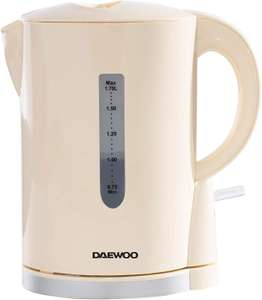 Daewoo SDA1683GE Chrome' 1.7L Cordless Electric Lightweight £9.99 prime / £14.48 non prime Sold by Sole Retail and Fulfilled by Amazon