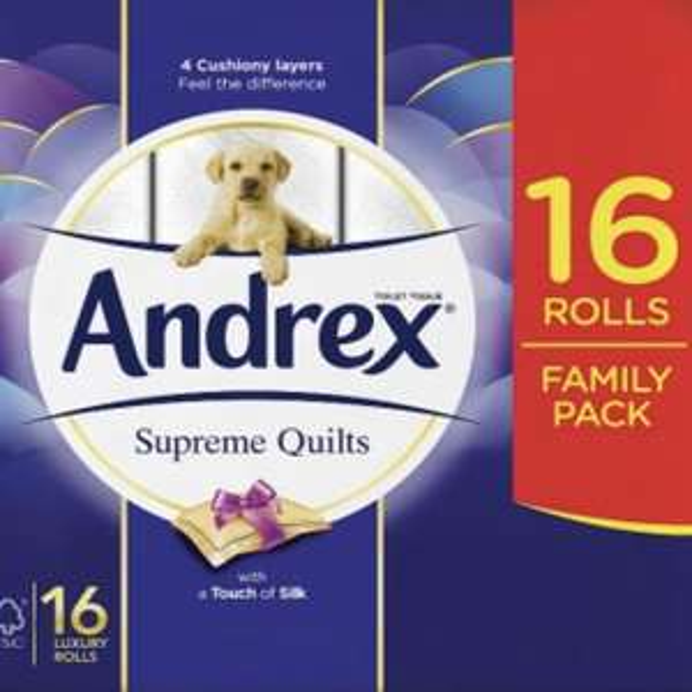 Andrex Supreme Quilts 16 rolls £7.50 @ Waitrose & Partners