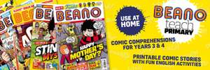 Six free Beano comic comprehension lesson plans you can use at home @ Beano