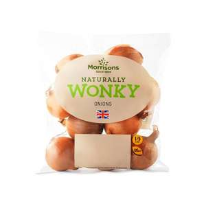 Wonky Onions 1kg 50p @ Morrisons (Min basket £40 + up to £5 delivery)