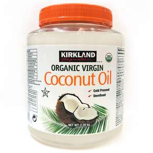 Cold pressed ORGANIC Coconut oil 2.28 kg - £17.77 delivered / Dispatched from and sold by E.U. Xtores