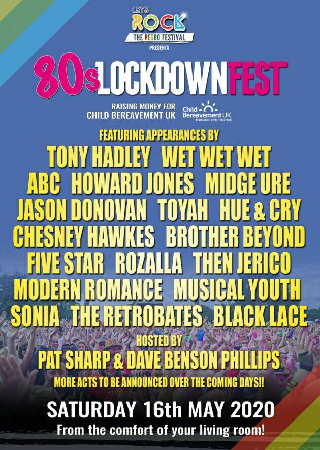 80's Lockdownfest free stream on Saturday 16th May via letsrockthemoor