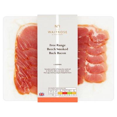Free Range Pure Smoked Bacon 200g - £2.84 @ Waitrose & Partners (Min basket £60)