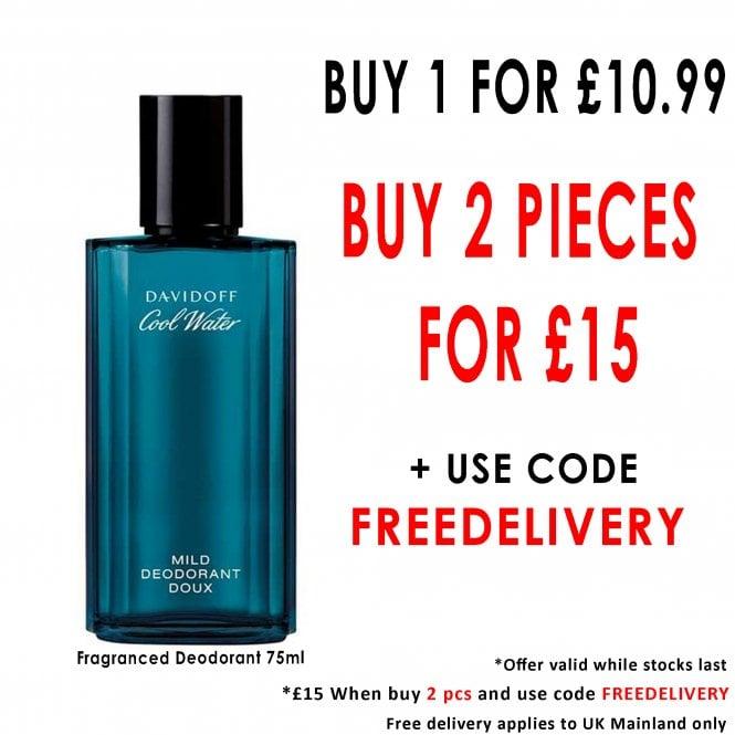 Davidoff Cool Water Men Fragranced Deodorant 75ml Spray £15 Beauty Base