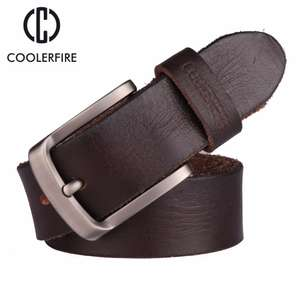 Coolerfire belt 100% genuine full grain leather in various sizes for £10.27 delivered using coupon @ AliExpress Deals / Coolerfire Store