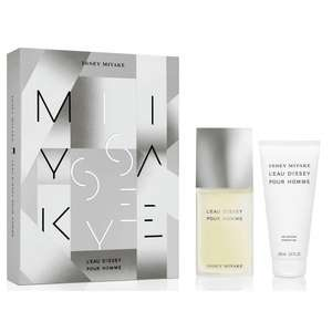 Issey Miyake L'Eau D'Issey Pour Homme 75ml EDT, 100ml Shower Gel Gift Set £25 delivered with code + Free Sample @ Beauty Base