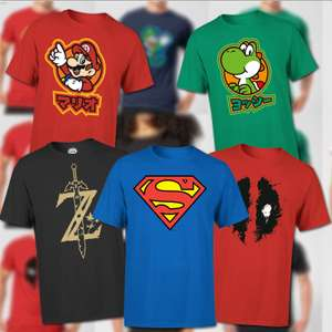 Men's & Women's T-Shirts £8.99 each - Nintendo, Disney, Jurassic Park, Harry Potter & More - Free Delivery Using Code @ Zavvi