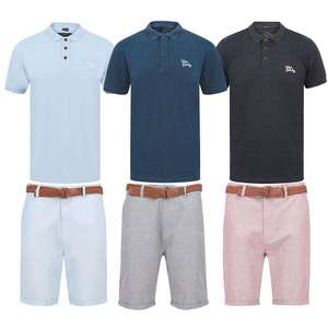 Men's Chino Shorts with Belt + Polo Shirt for £20 / £21.99 delivered @ Tokyo Laundry