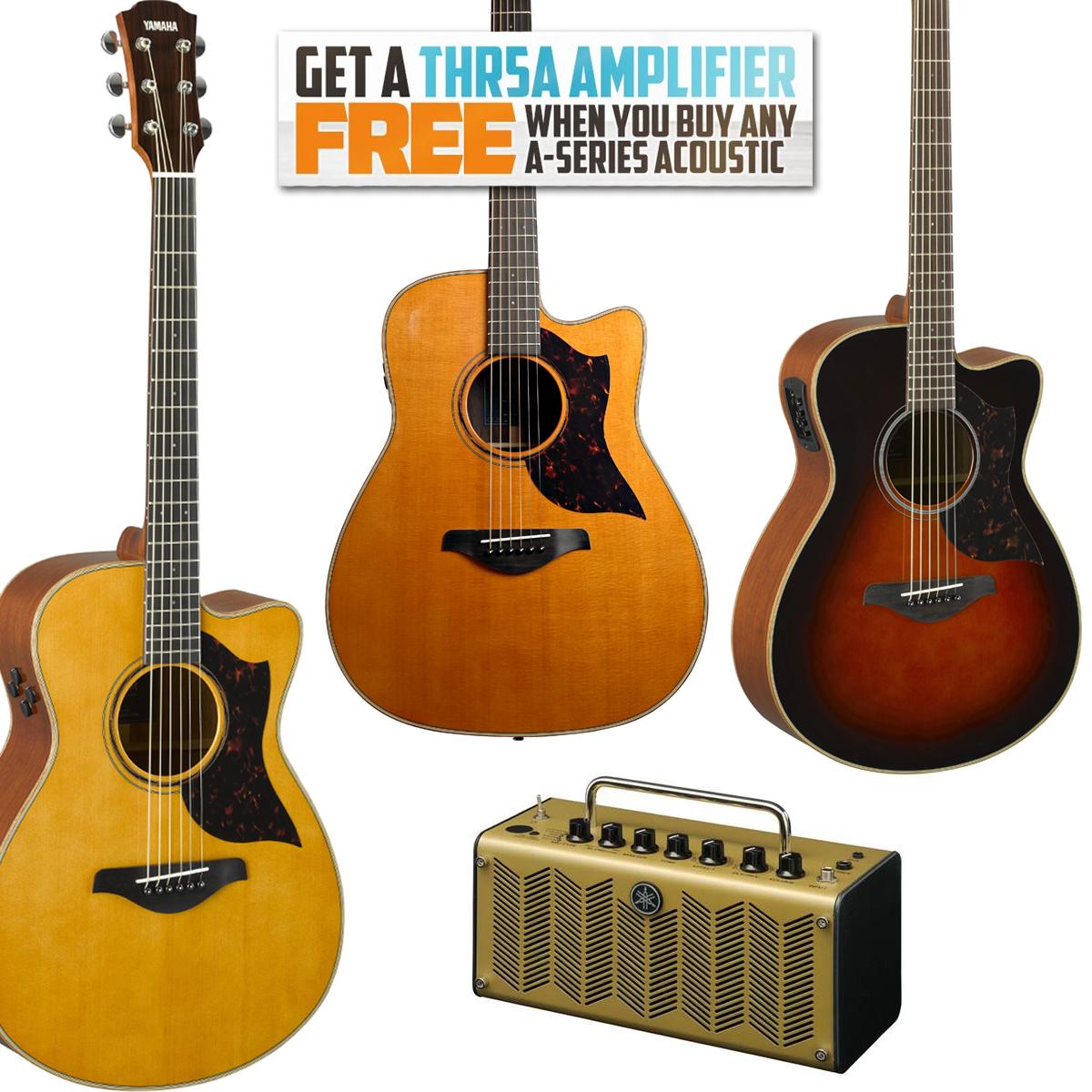 Yamaha Acoustic Guitars + Free THR5A Amp - Yamaha AC1MIITBS £529 / Yamaha AC3M ARE Solid Top, Back & Sides - £699 @ Guitar Guitar