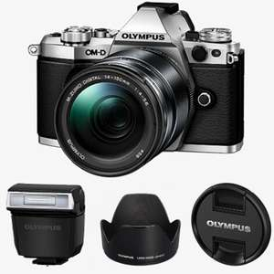 Olympus E‑M5 Mark II 1415 Camera Kit - Includes: 14-150mm Lens, Flash, Hood, Shoulder Strap + More - £599.99 @ Olympus