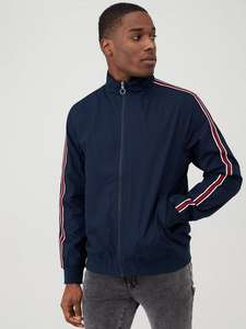 V by Very Side Tape Cotton Harrington Jacket, Navy - £20 / £23.95 delivered @ Very