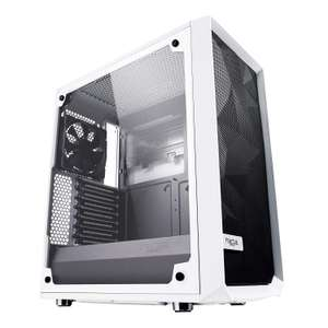 Fractal Design Meshify C Tempered Glass Mid Tower PC Case White (2x Fans included) - £79.99 at Amazon
