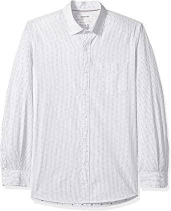 Amazon Brand - Goodthreads Men's Long-sleeve Black Stripe Shirt - Large Size only - £3 (+£4.49 Non-Prime) @ Amazon