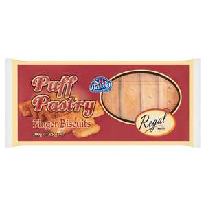 Regal Puff Pastry Finger Biscuits 200G 66p @ Tesco (Min Basket £40)