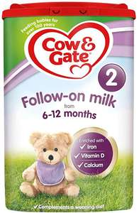 Cow & Gate 2 Follow-On Milk From 6-12 Months, Pack of 6 x 800g £43.08 with voucher @ Amazon