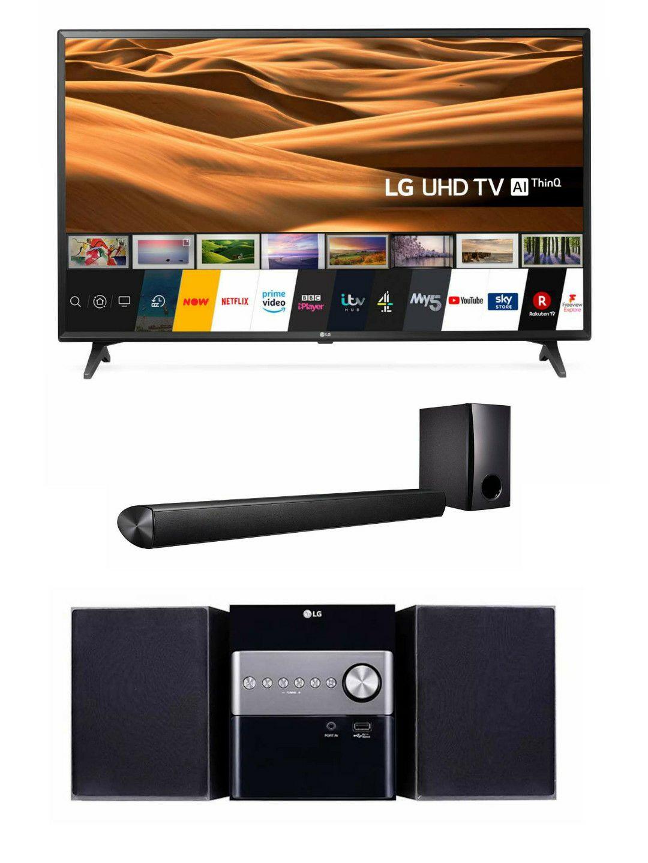 "LG 43"" TV 43UM7050PLA + LG SH2 Soundbar + LG Micro Hi-Fi System - £382.99 @ Hughes With Code"
