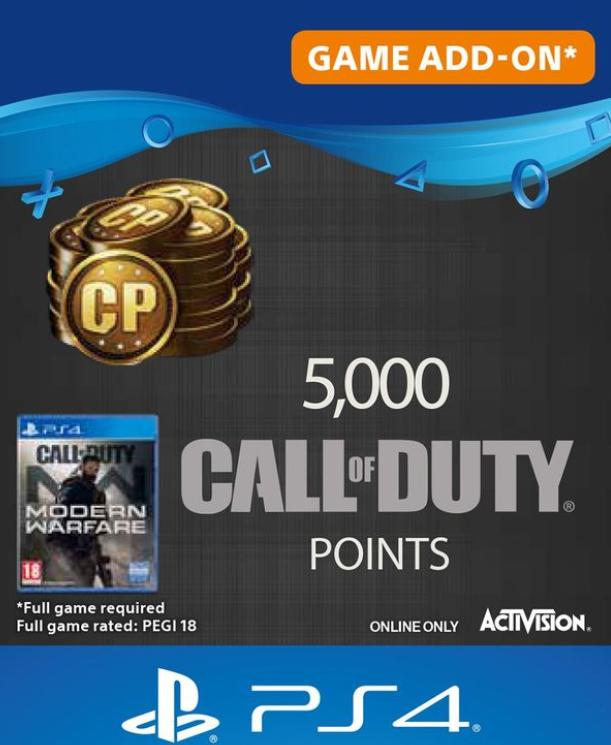 5000 Call of Duty Modern Warfare Points £29.85 @ ShopTo