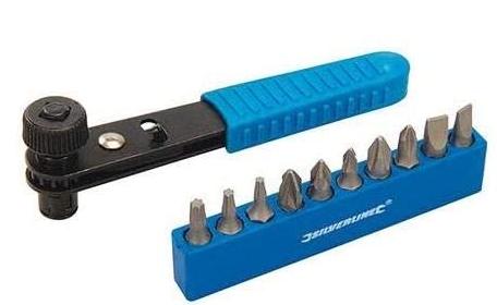 Silverline 404706 11pce Offset Ratchet Screwdriver Set 11 Piece, Black/Blue - £2.69 (Prime) // £7.18 (Non Prime) @ Amazon