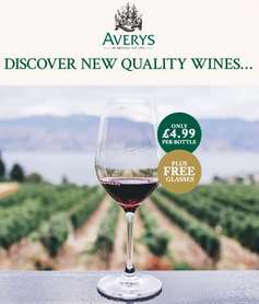 Averys Signature Collection case of 12 wines two free glasses requires sign up but can cancel - £59.88 @ Avery's Wine