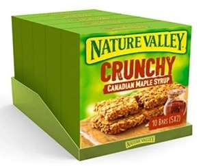 Nature Valley Canadian Maple Syrup Cereal bars 50 of 10 - £5 (+£4.49 Non-Prime) @ Amazon
