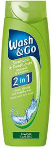 9 bottles Wash & Go 2 in 1 Classic / Sport Shampoo and Conditioner - £9 at Amazon (£8.55 with S&S / + £4.49 NP) / 6 x 400ml £9.99