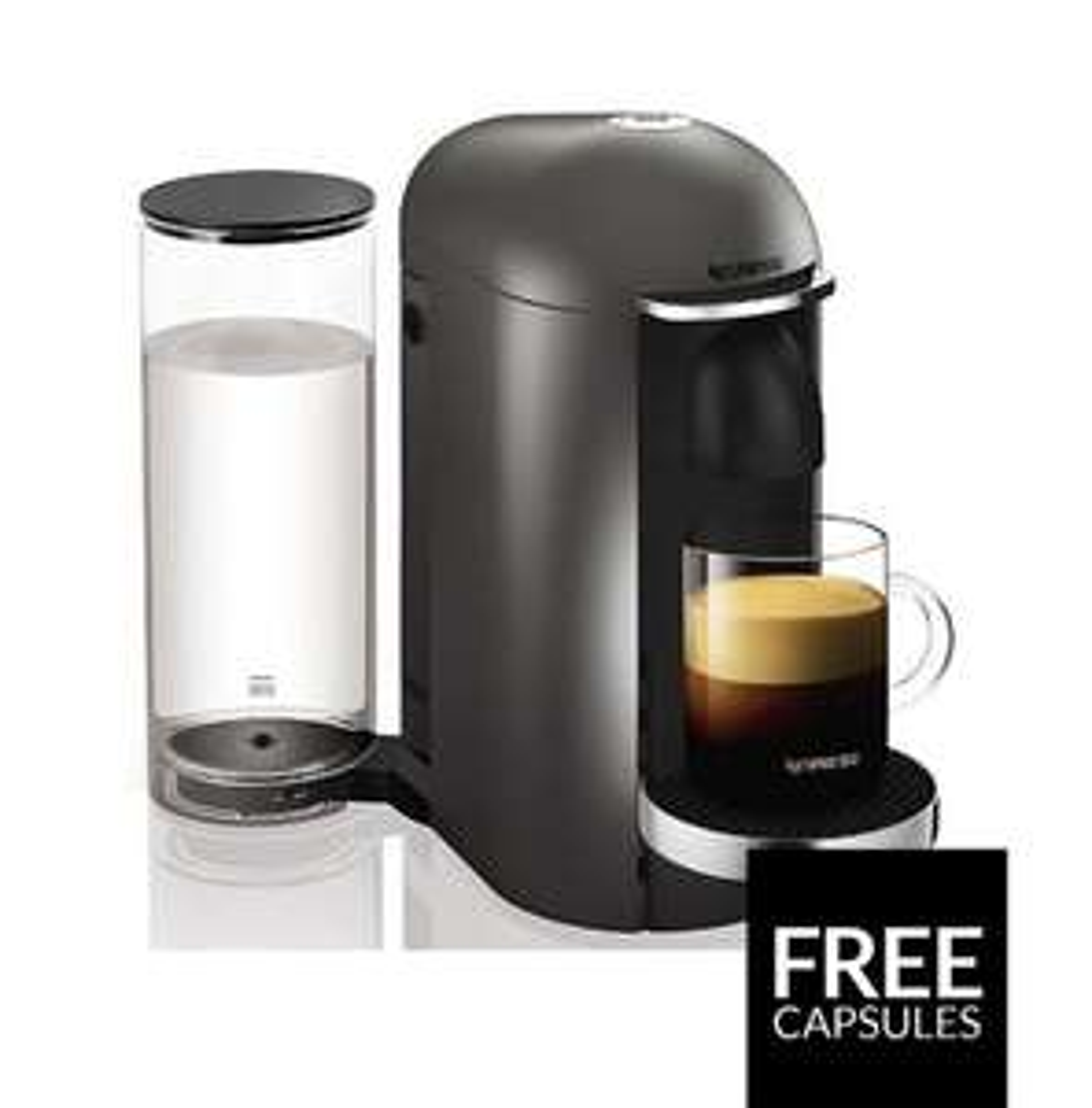 Nespresso, Pod Coffee Machine, Krups, Vertuo Plus, Titanium [Energy Class A] £79.99 @ Amazon