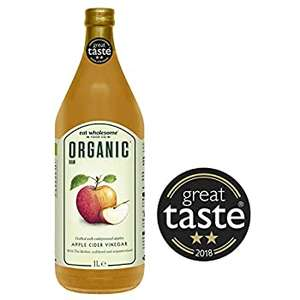 Eat Wholesome Organic Raw Apple Cider Vinegar with The Mother, 1L £5.99 Amazon Prime / £10.48 Non Prime